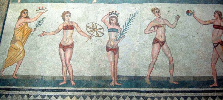"The ""bikini girls"" of the Roman Villa at Piazza Armerina"