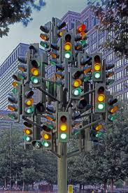 traffic lights tree