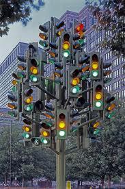 traffic lights tree