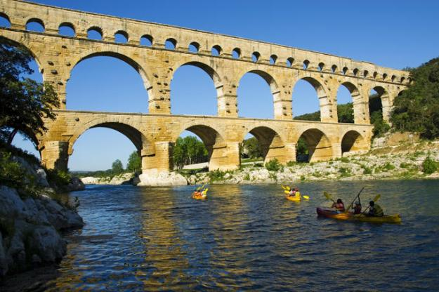 The Pont du Gard, Nimes, France: This was built by Italians 2,000 years ago and brought water to an entire city and surrounding farms. On its lower level it carries cars and other motorised vehicles, which the Ancient Romans who designed it could not even have imagined.