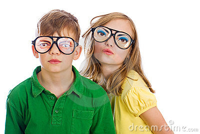 If your child or pet suffers from squinting, you can order vision-correcting glasses for them online or in all good joke shops.