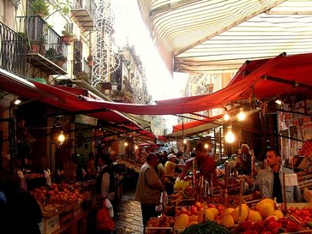 The Capo market in Palermo, founded by Africans over 1,100 years ago.