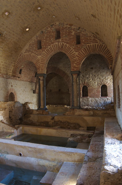 Ancient baths which still stand in the wild middle of nowhere. You won't get pestered by rival tourists if you come here.