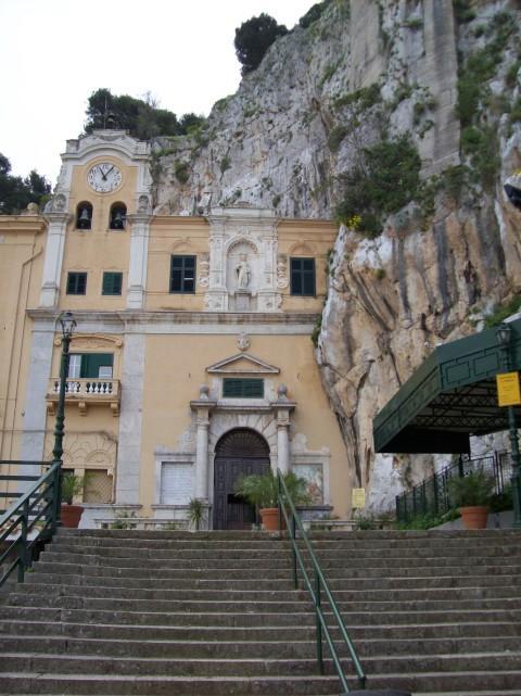 facade of grotto of santa rosalia