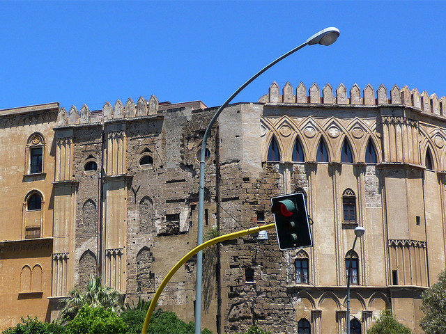 Palazzo de Normanni in Palermo, where Santa Roslia grew up.