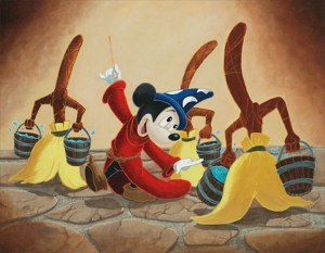 mickey and brooms