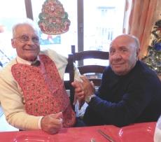 SicilianHousewife - to elderly sicilian men in a pinny