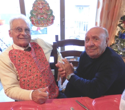 SicilianHousewife - to elderly sicilian men in a pinny