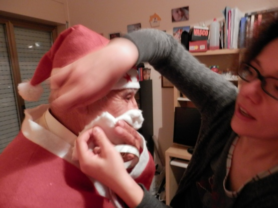 Sicilian Housewife - santa beard from cotton wool