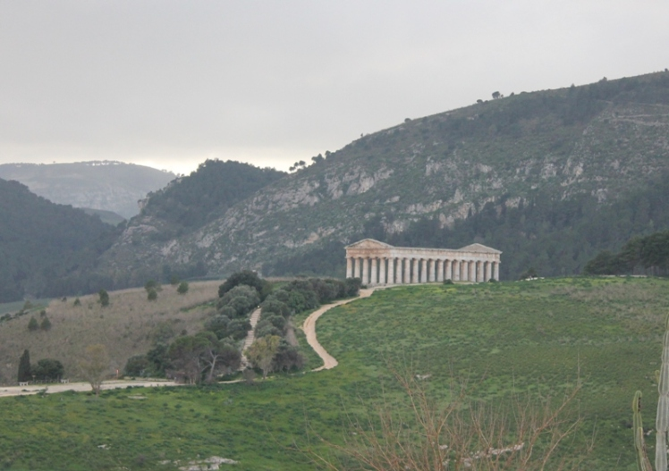 So near and yet so far.... The Greek temple at Segesta