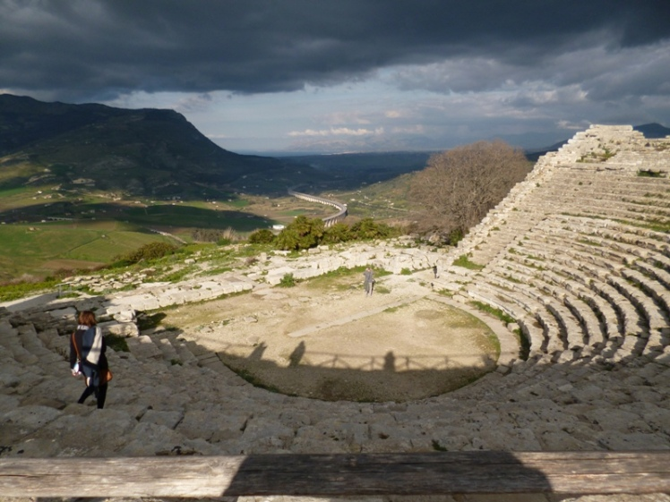The Greek theatre at Segesta.