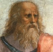 An artist's impression of Plato feeling somewhat frayed around the edges after his third holiday in Sicily