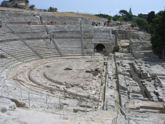 The theatre again. Poor Plato just couldn't keep away!