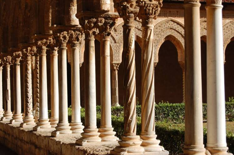 Monreale Cathedral courtyard, Sicily