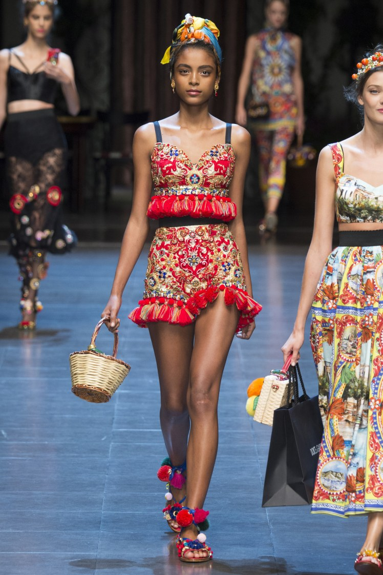 D&G still being gorgeously Sicilian for Spring 2016