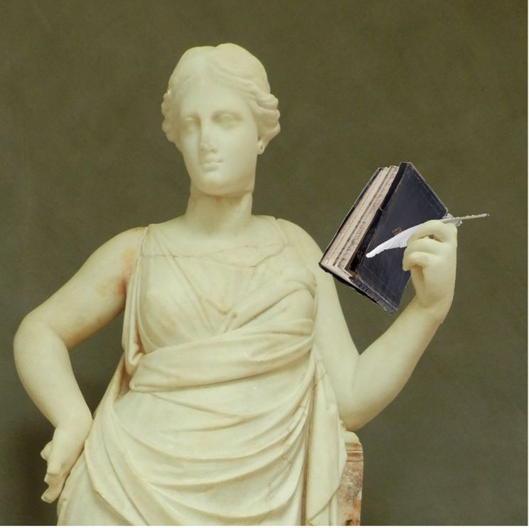 statue-with-diary